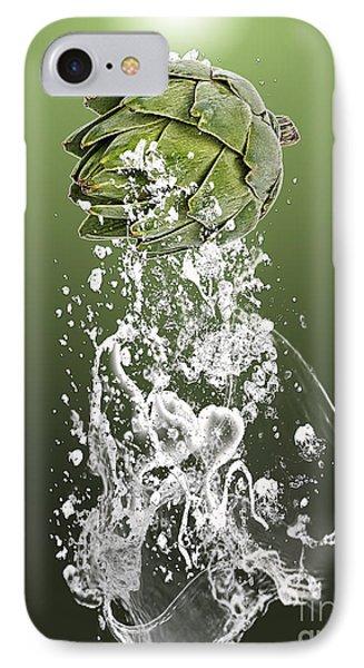 Artichoke Splash IPhone Case by Marvin Blaine