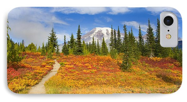 Autumn Trail IPhone Case by Mike  Dawson