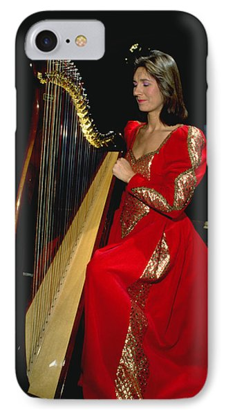 Beautiful Harp Player Phone Case by Carl Purcell