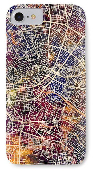 Berlin iPhone 7 Case - Berlin Germany City Map by Michael Tompsett