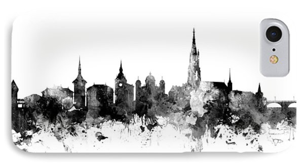 Bern Switzerland Skyline IPhone Case by Michael Tompsett