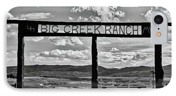 Big Creek Ranch IPhone Case by L O C