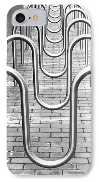 Bike Racks IPhone Case by Tom Gowanlock