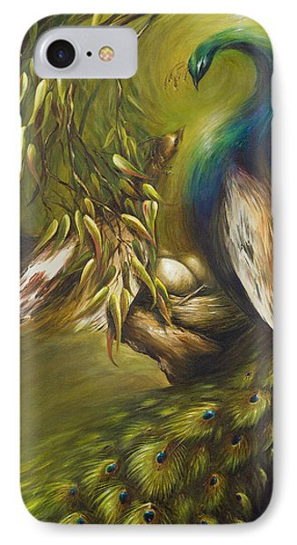 IPhone Case featuring the painting Birds Of A Feather by Dina Dargo