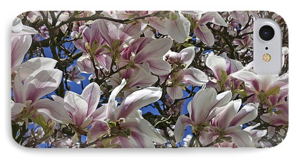 IPhone Case featuring the photograph Blossom Magnolia White Spring Flowers Photography by Artecco Fine Art Photography