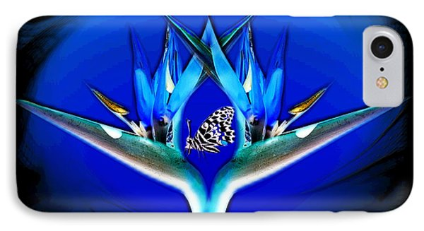 Blue Bird Of Paradise IPhone Case by Joyce Dickens