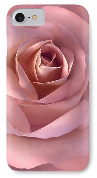 Blushing Pink Rose Flower IPhone Case