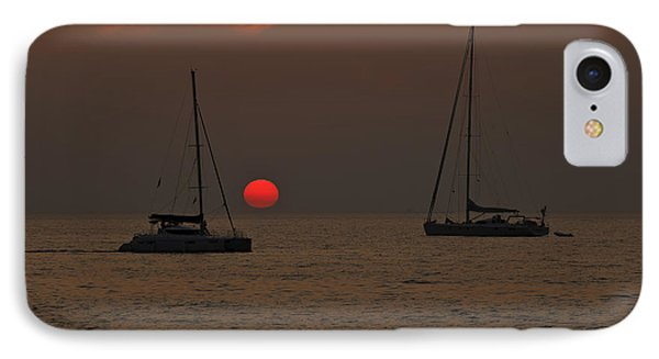 Boats In The Sunset Phone Case by Joana Kruse