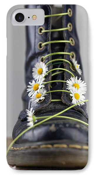 Daisy iPhone 7 Case - Boots With Daisy Flowers by Nailia Schwarz