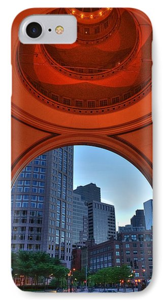 Boston Harbor Hotel Rotunda IPhone Case