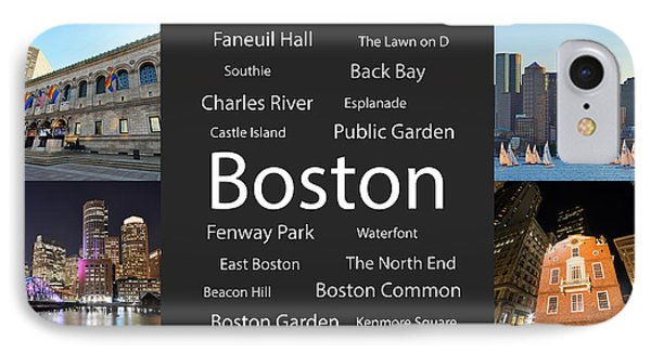 Boston Ma Collage IPhone Case by Toby McGuire