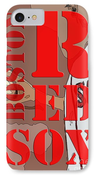 Boston Red Sox Original Typography  IPhone Case by Pablo Franchi