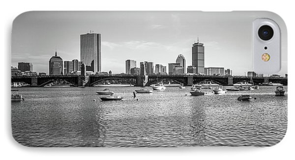 Boston Skyline Black And White Photo IPhone Case by Paul Velgos