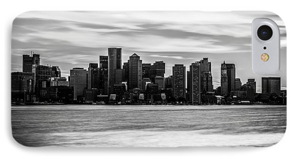 Boston Skyline Black And White Picture IPhone Case by Paul Velgos