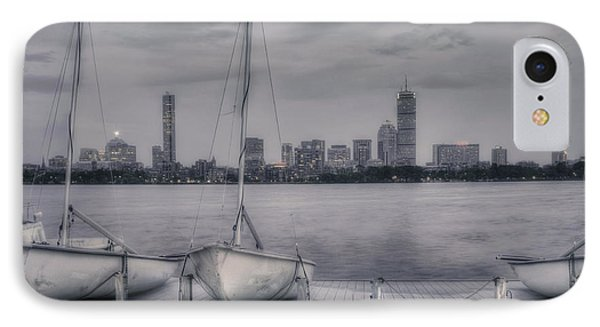 Boston Skyline From Mit Sailing Pavilion IPhone Case by Joann Vitali