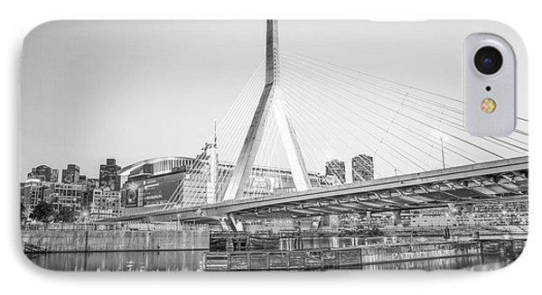 Boston Zakim Bridge Black And White Photo IPhone Case by Paul Velgos