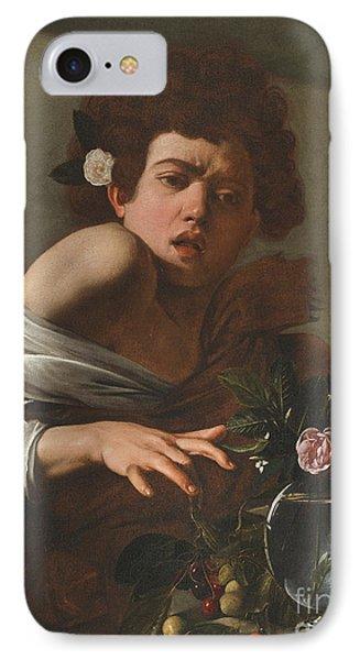 Boy Bitten By A Lizard IPhone Case by Caravaggio