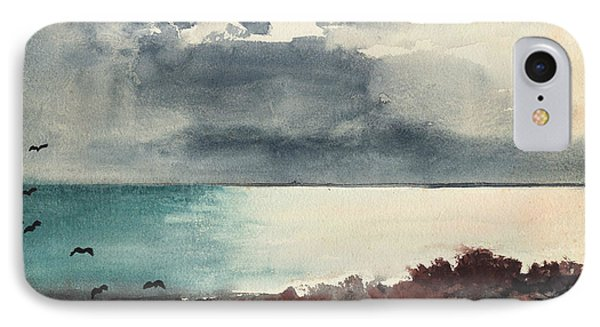 Breaking Storm Coast Of Maine IPhone Case by Winslow Homer