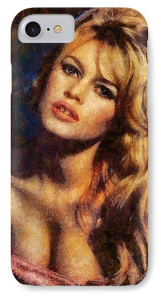 Brigitte Bardot Hollywood Actress IPhone Case