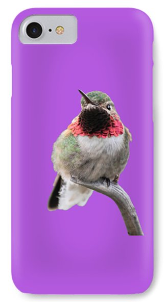 Broad-tailed Hummingbird Phone Case by Shane Bechler