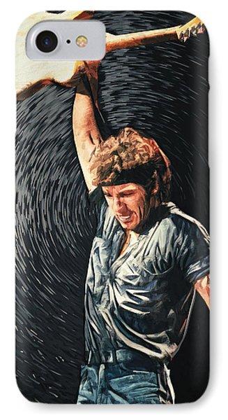 Bruce Springsteen IPhone Case by Taylan Apukovska