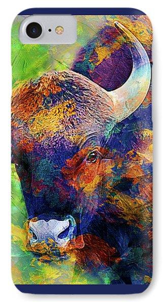 Bull Phone Case by Elena Kosvincheva