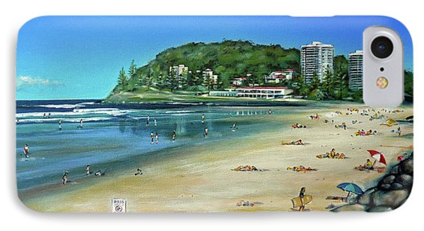 IPhone Case featuring the painting Burleigh Beach 100910 by Selena Boron