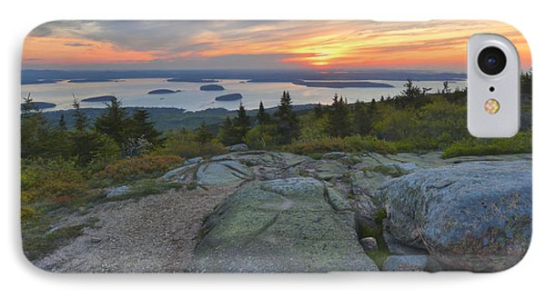 IPhone Case featuring the photograph Cadillac Mountain Sunrise by Stephen  Vecchiotti