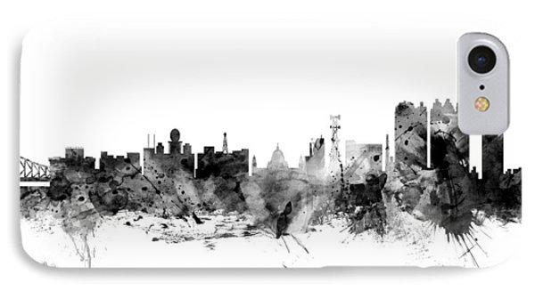 Calcutta Kolkata India Skyline IPhone Case by Michael Tompsett
