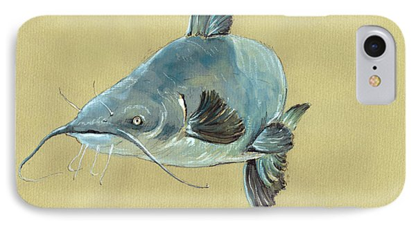 Channel Catfish Fish Animal Watercolor Painting IPhone 7 Case