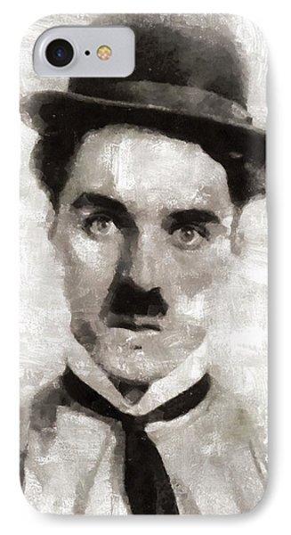 Charlie Chaplin Hollywood Legend IPhone Case by Mary Bassett