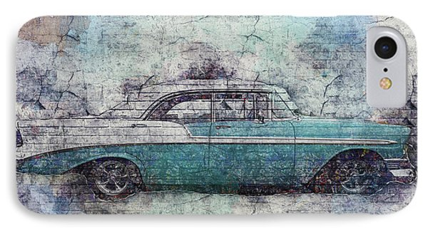 IPhone Case featuring the photograph Chevy Bel Air by Joel Witmeyer