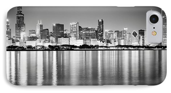 Chicago Skyline Black And White Photo IPhone Case