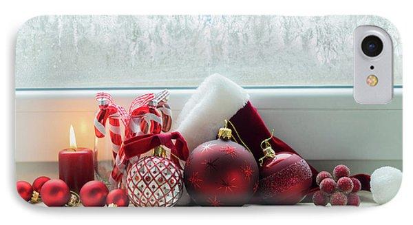 Christmas Windowsill IPhone Case by Anastasy Yarmolovich
