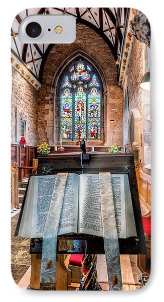 Church Interior IPhone Case by Adrian Evans