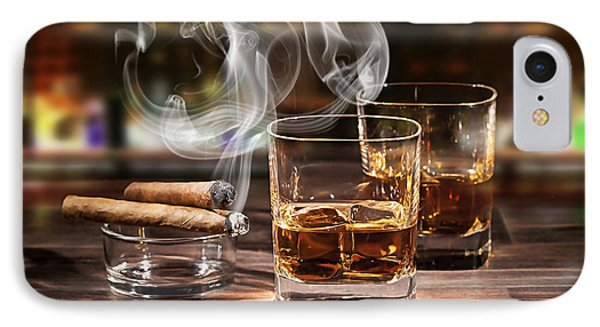 Cigar And Alcohol Collection IPhone Case