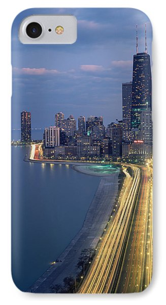 City At The Waterfront, Lake Michigan IPhone Case by Panoramic Images