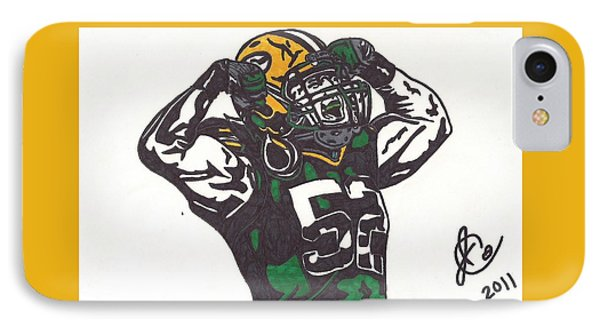 IPhone Case featuring the drawing Clay Matthews 2 by Jeremiah Colley