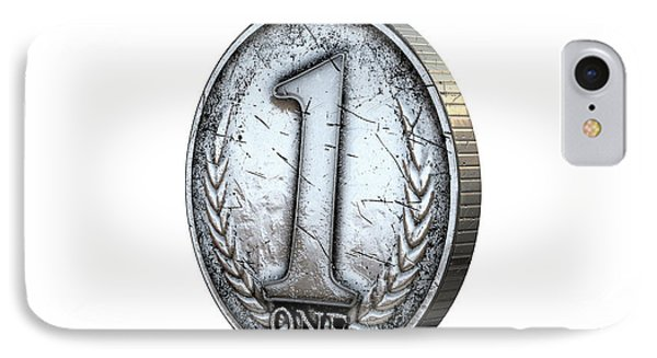 Coin Number One IPhone Case by Allan Swart