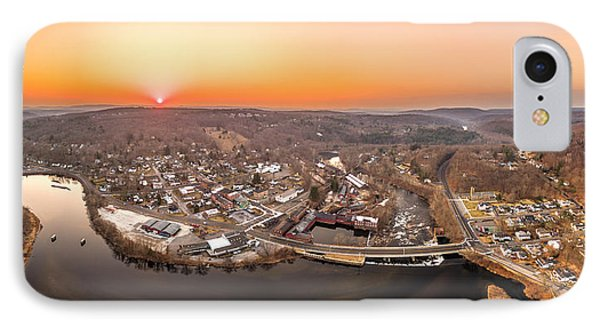 IPhone Case featuring the photograph Colinsville, Connecticut Sunrise Panorama by Petr Hejl