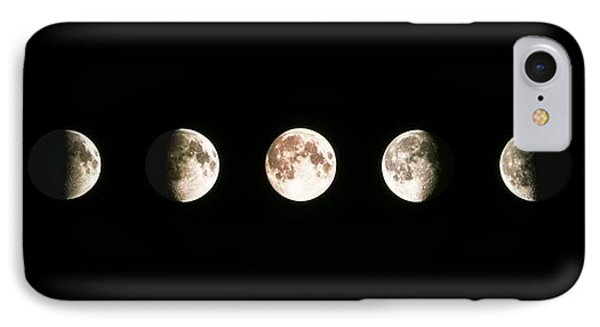 Composite Image Of The Phases Of The Moon IPhone Case by John Sanford