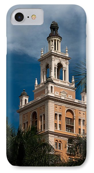 Coral Gables Biltmore Hotel Tower IPhone Case by Ed Gleichman