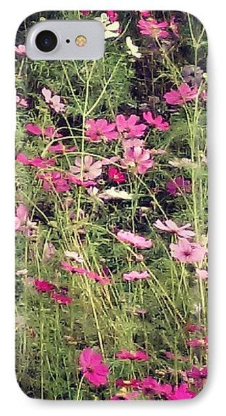 Cosmos Flowers  Phone Case by Sobajan Tellfortunes