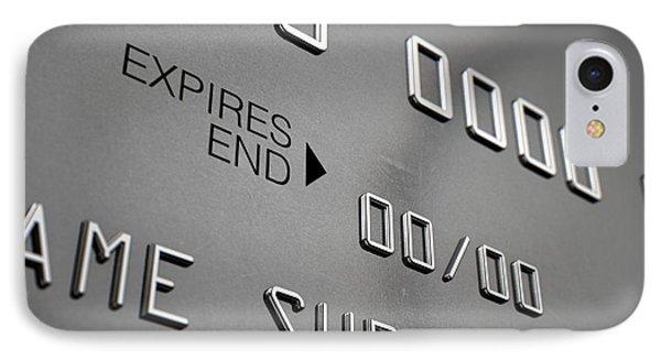 Credit Card Closeup IPhone Case by Allan Swart