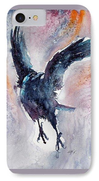 Crow In Autumn IPhone Case