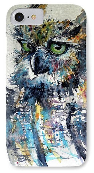 IPhone Case featuring the painting Cute Owl by Kovacs Anna Brigitta