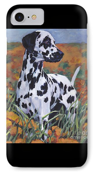 IPhone Case featuring the painting Dalmatian by Lee Ann Shepard