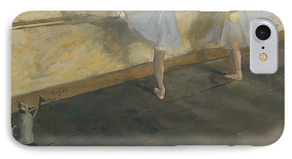 Dancers Practicing At The Bar IPhone Case by Edgar Degas