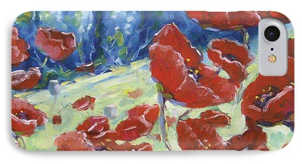 Dancing Poppies Phone Case by Richard T Pranke