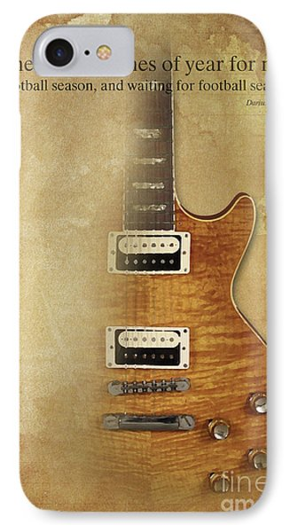 Darius Rucker Inspirational Quote, Electric Guitar Poster For Music Lovers And Musicians IPhone 7 Case